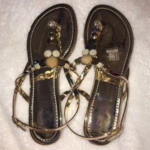 Beautiful gold sandals